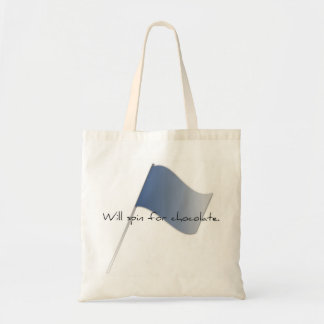 "Colorguard ""Will spin for chocolate."" Tote Bag"
