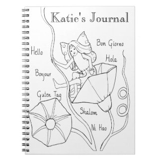 ColorIn Fairy Journal Spiral Note Book