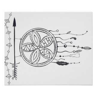 Coloring Book Poster, Color your own dreamcatcher Poster