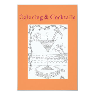 Coloring & Cocktails Girls Night Party Invitations