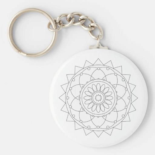 Coloring Fun - Mandala 1 Key Chain
