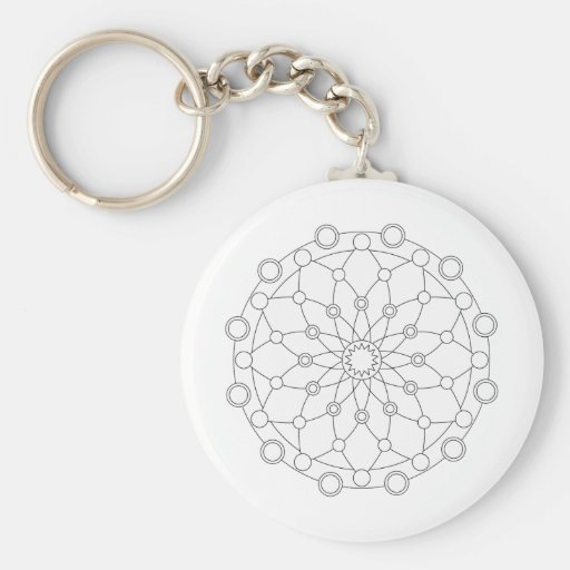 Coloring Fun - Mandala 2 Keychains