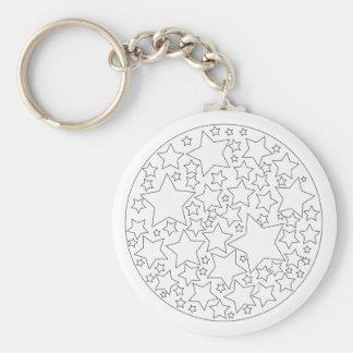 Coloring Fun - Star Design Keychain