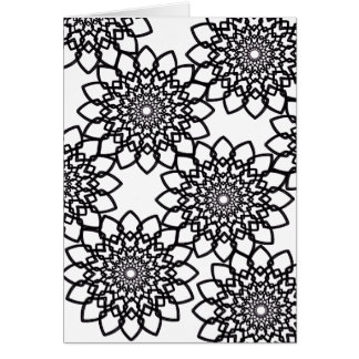 Coloring Radial Flowers (envelopes included) Greeting Card