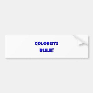 Colorists Rule Bumper Sticker
