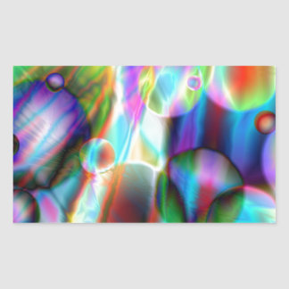 Colorl Fantasy Universe, Sci-fi Planetary Systems Rectangular Stickers