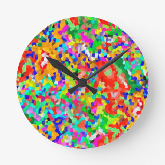 ColorMANIA ARTISTIC Creation:  lowprice GIFTS ZAZZ Round Wall Clocks