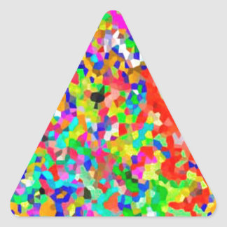 ColorMANIA ARTISTIC Creation:  lowprice GIFTS ZAZZ Triangle Stickers