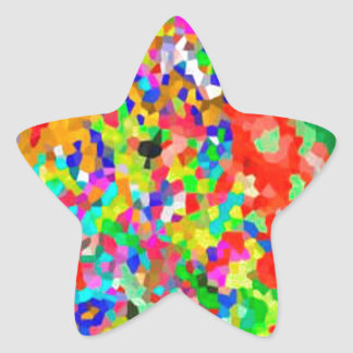ColorMANIA ARTISTIC Creation:  lowprice GIFTS ZAZZ Star Sticker