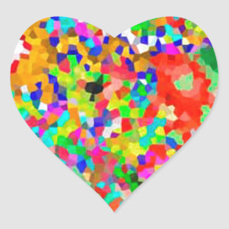 ColorMANIA ARTISTIC Creation:  lowprice GIFTS ZAZZ Heart Sticker