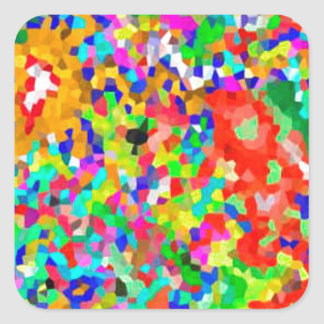 ColorMANIA ARTISTIC Creation:  lowprice GIFTS ZAZZ Square Stickers