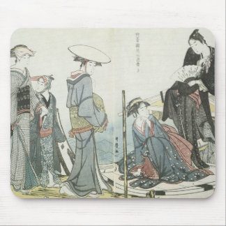 Colors and Scents of Flowers, Utamaro, 1784 Mousep Mouse Pad