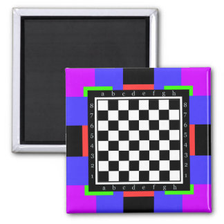 colors and shapes, classic chess table square magnet