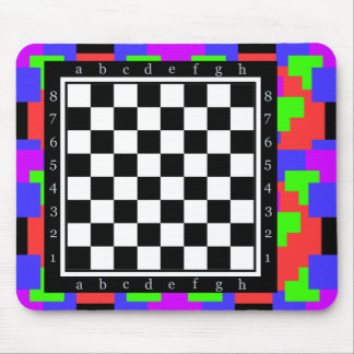 colors and shapes, classic chess table mouse mat