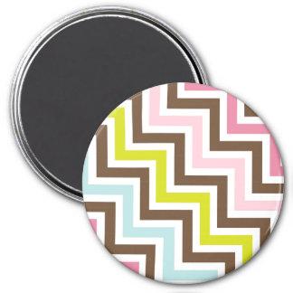 Colors Diagonal Zigzag Chevron Pattern Magnet