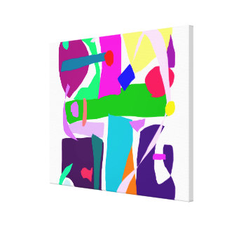 Colors Dots Stripes Curves Flair Gallery Wrapped Canvas