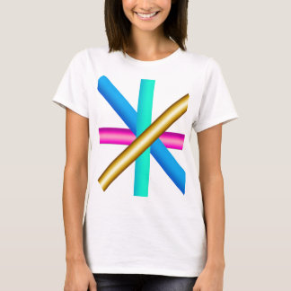 Colors four pink gold blue teal T-Shirt