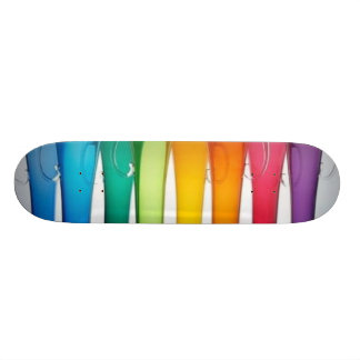 colors in a row skateboard deck