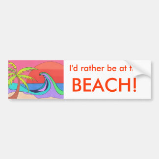 Colors in a Wave Bumper Stickers