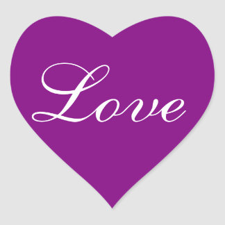 Colors Invites Purple Love Wedding Seals