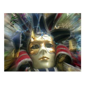 Colors Masquerade Mask Postcard