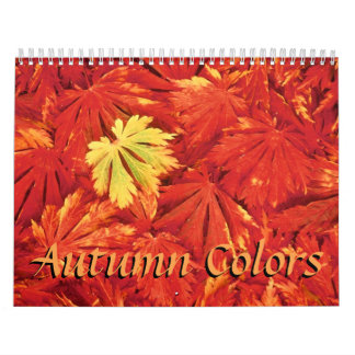 Colors of Autumn  2017 Calendar