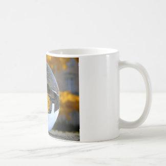 Colors of Autumn Gingko tree, crystal ball Basic White Mug