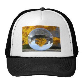 Colors of Autumn Gingko tree, crystal ball Trucker Hats