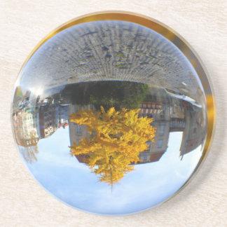 Colors of Autumn Gingko tree, crystal ball Coasters