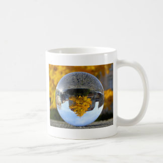 Colors of Autumn Gingko tree, crystal ball Coffee Mugs
