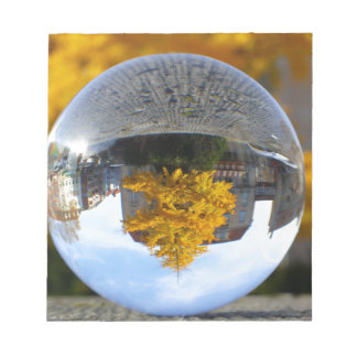 Colors of Autumn Gingko tree, crystal ball Note Pads