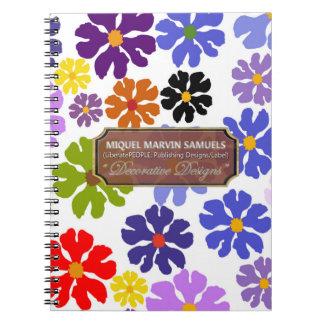Colors of Blossoms Decor Designer Modern Notebook