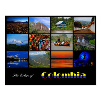 Colors of Colombia Post Card