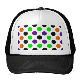 Colors of Halloween Polka Dots Mesh Hat
