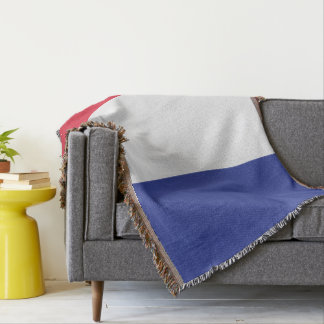 Colors of Italy Flag. Throw Blanket