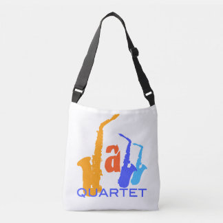 Colors of Jazz Quartet Sax Illustration bag 1 Tote Bag