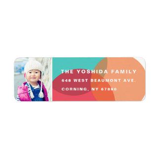 Colors of Joy Photo Return Address Labels