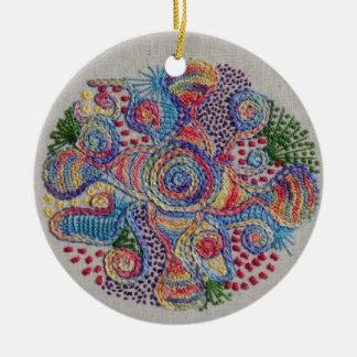 Colors of Life Mandala Round Ceramic Decoration