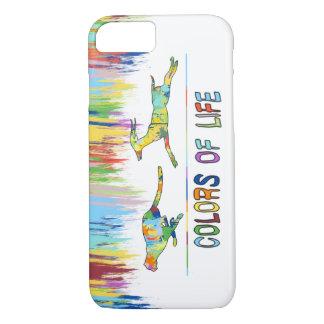 Colors of Life Splash Shape Antelope Cheetah iPhone 7 Case