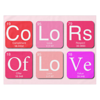 Colors Of Love Tablecloth