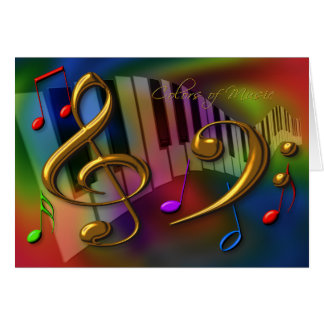 colors of music card