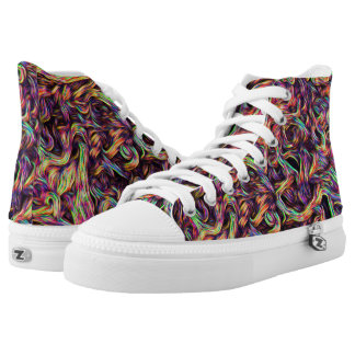 """""""Colors of my roots"""" Zipz High Top Shoes Printed Shoes"""