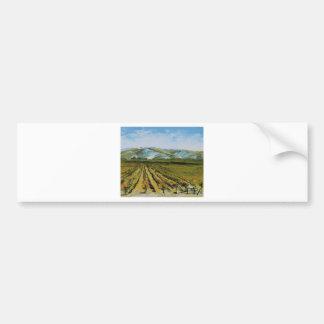 Colors of Napa Valley, Wine Country California Bumper Sticker