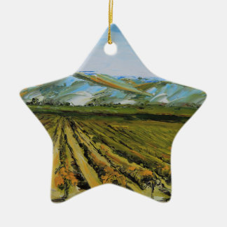 Colors of Napa Valley, Wine Country California Christmas Ornament