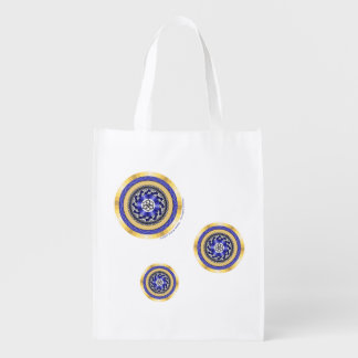 Colors of New Year Reusable Grocery Bag