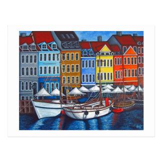 Colors of Nyhavn Postcard