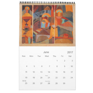 Colors of Paul Klee Abstract Drawing Calendars