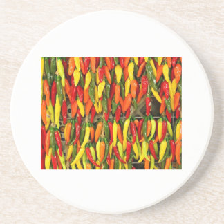 Colors of Peppers Coaster