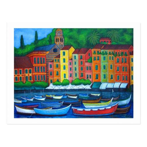 Colors of Portofino Postcard