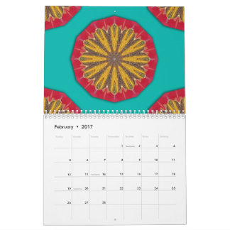 Colors of Rust mandala-style 02 Calendar